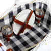 2-Person Traditional White Picnic Basket